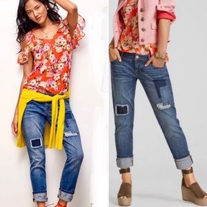 CAbi Patchwork Slim Boyfriend Jeans